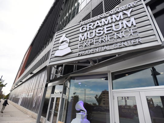 Photo of the marquee of Grammy Museum Experience at