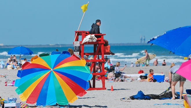 The beachfront at Lori Wilson Park in Cocoa Beach is a popular spot for out-of-town visitors.