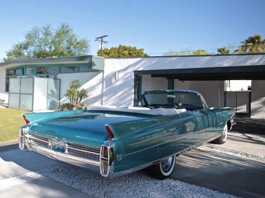 Celebrity interior designer Dann Foley reveals his remodeling of a Wexler Palm Springs home on Thursday.