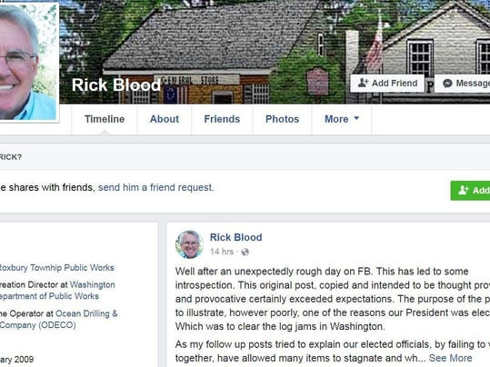 Rick Blood Facebook grab
