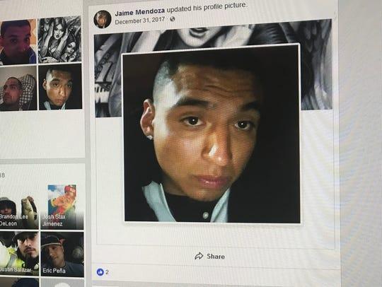San Angelo police identified Jaime Mendoza as the man
