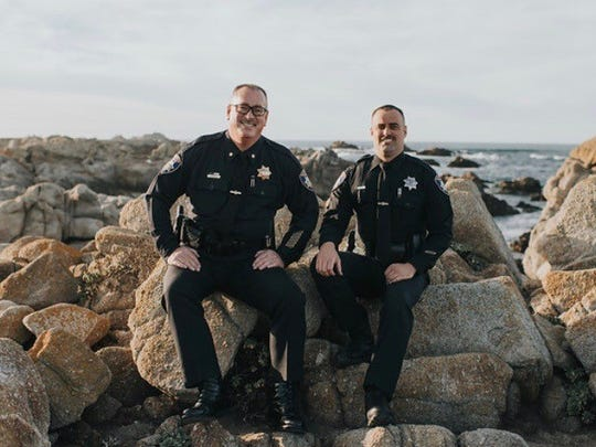 Salinas Police Cmdr. Dave Crabill Sr. and his son, Salinas Police Officer Dave Crabill Jr.