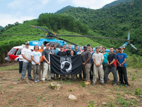 Members of a Defense POW/MIA Accounting Agency (DPAA) recovery team pose for a group photo after excavation operations in Quang Ngai province, Socialist Republic of Vietnam, April 10, 2018. The team deployed to the area in support of DPAA's mission to provide the fullest possible accounting of our missing personnel to their families and the nation by searching for the remains of service members lost during the Vietnam War.