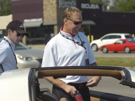NASCAR legend Rusty Wallace gets ready to cruise Woodward.