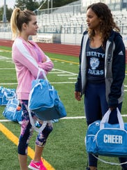 13 Reasons Why actresses Anne Winters, left, and Alisha