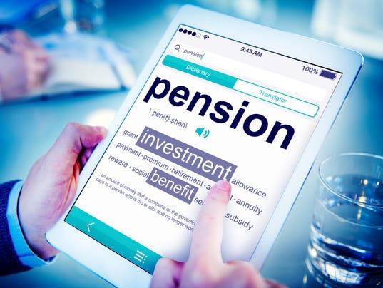 Stock Image - Pension Illustration