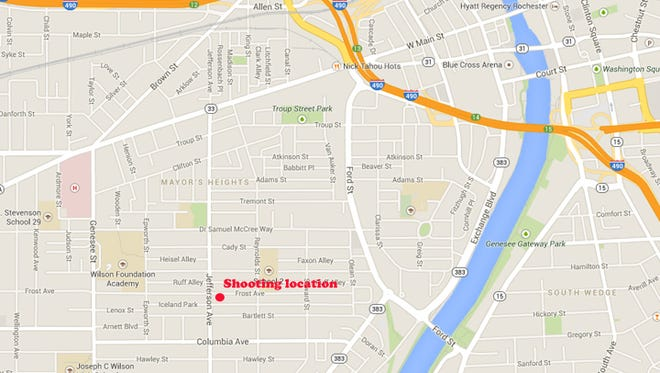 A 24-year-old man was shot Saturday morning on Frost Avenue.