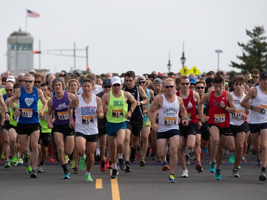 2018 Belmar Five Mile run in Belmar, NJ on July 14,