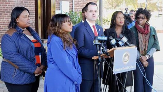 New York state Sen. David Carlucci, D-New City, joined members of the Haitian American Nurses Association of Rockland on Monday, Oct. 19, 2015, to call for a full investigation into a discriminatory help wanted ad placed in a local Pennysaver.