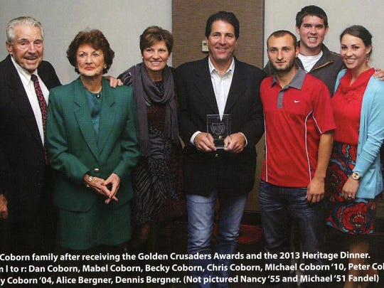 The Coborn family is shown after receiving the Golden Crusaders Award. Photo was featured in The Cathedral Magazine in fall 2013.