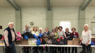 Members of the Las Cruces Association of Educational Retirees met March 13 to pack food and snack items in over 200 backpacks for homeless students in the Las Cruces school system for Spring break distributed through Project Link. Each backpack contained individually wrapped snacks that contains approximately 3,000 calories.