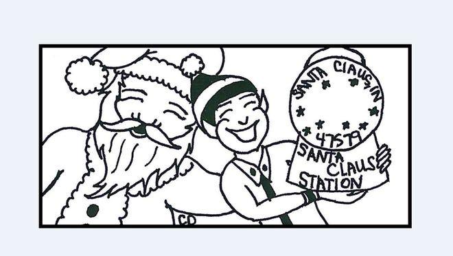 2016 Santa Claus, Indiana postmark