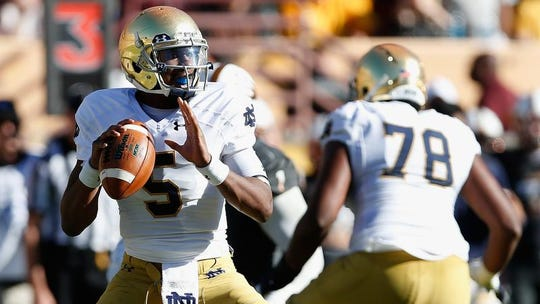 Quarterback Everett Golson graduated from Notre Dame