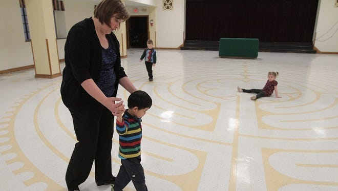 TINA MACINTYRE-YEE/ @tyee23/File photo 2013 Asbury First United Methodist Church, 1050 East Ave., is opening its inside labyrinth.