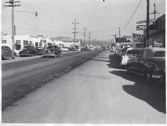 Calle de Alisal en 1950.