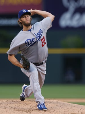 Clayton Kershaw went 21-3 with a 1.77 ERA for the NL West champion Los Angeles Dodgers.