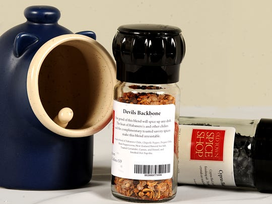 You can find this salt pig and special salts from Old Town Spice Shop.