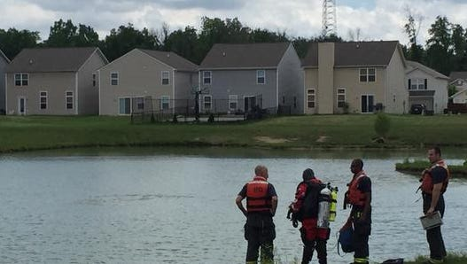 Divers from the Indianapolis Fire Department are busy searching two retention ponds today for any signs of a 3-month-old child missing from a home in the Orchard Valley Farms subdivision on Indianapolis' Northeastside.