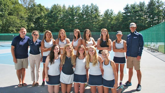 The Asheville School girls tennis team.