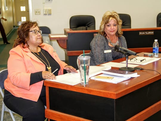 Otero County Clerk Denise Guerra and county clerk-elect Robyn Holmes went over the 2016 general election results at the county commission regular meeting on Thursday.