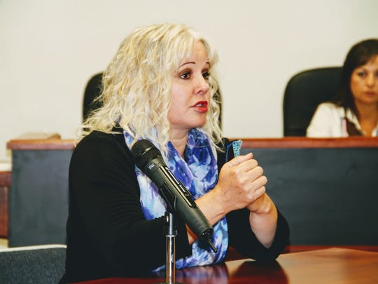 Twelfth Judicial Court Executive Officer Katina Watson.discusses the issues the current Otero County Court House, 1000 New York Ave., faces at the Nov. 10 regular commission meeting.