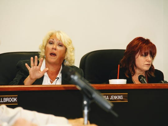 Otero County Attorney Lisa Jenkins argued that Butterfield Trail was a private road not county road at the Nov. 10 commission meeting.