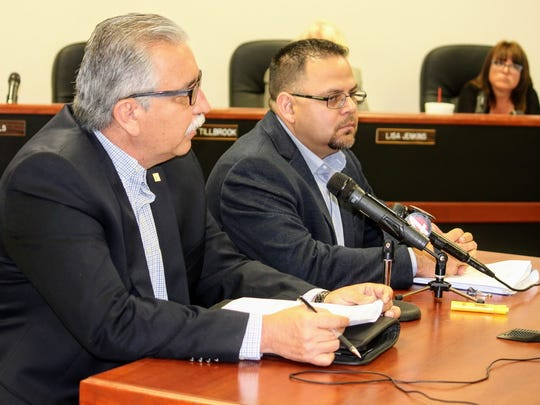 Otero County Prison Facility Warden Rick Martinez and Emergency Response Training Manager Hector Portillo proposed to County Commissioners an outdoor shooting range at the Otero County Prison Facility at their regular meeting Thursday, April 13.