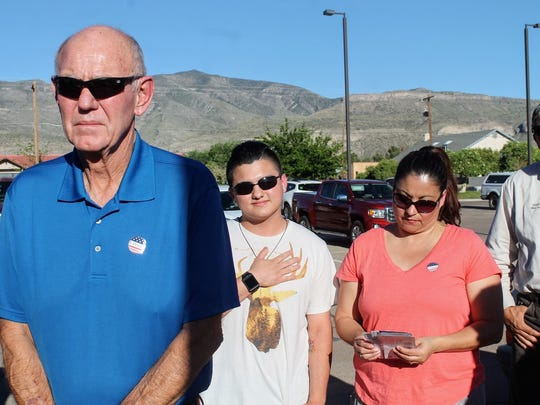 Alamogordo's Mayor Richard Boss participated in the National Day of Prayer at City Hall. Boss declared Thursday, May 4, as National Day of Prayer in Alamogordo in recognition of National Day of Prayer nationwide.