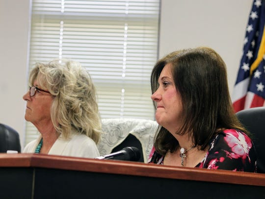 From left to right, Otero County Commission Chairman Janet White and County Commissioner Susan Flores had dueling resolutions declaring neutrality and non-support for the deep borehole project respectively. Neutrality claimed victory but County Commissioners also cited the strong opposition from county residents.