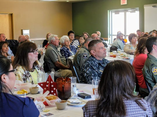 Several military personnel and community leaders attended the Alamogordo Chamber of Commerce quarterly military and civilian luncheon Tuesday.