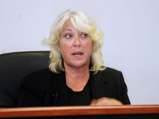 In this file photo, Otero County Attorney Lisa Jenkins explained the importance of expanding the detention center at a public hearing on March 15, 2015.