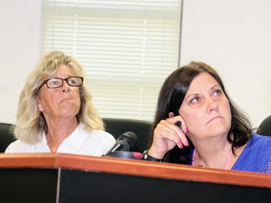 Otero County Commissioners Janet White and Susan Flores