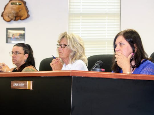 Shown here in this file photo, Otero County Commissioners Lori Bies, Janet White, and Susan Flores discussed the feasibility study that was done on the 12th Judicial District Courthouse in late 2016 at the June 8, 2017 Otero County Commission meeting.