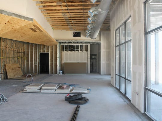 The proposed Starbucks drive-thru, 1400 S. White Sands Blvd., is shown under construction in this Daily News file photo.