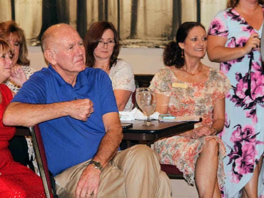 Alamogordo Mayor Richard Boss was among many distinguished guests at the Alamogordo Chamber of Commerce Board of Directors change of command ceremony Thursday, June 22 at Pepper's Grill.