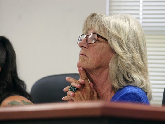 County Commission Chairman Janet White had a few issues regarding plans on the Foxhole Homes community for homeless veterans at the Otero County Commission meeting Thursday, July 13.