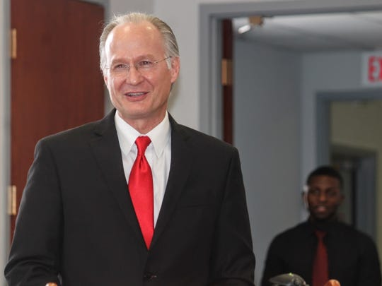 Twelfth Judicial District Court Judge Jerry H. Ritter said a farewell speech during his retirement ceremony Tuesday in front of colleagues, friends and family.