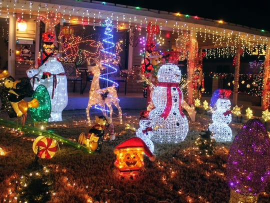 Christmas lights were on display Friday at 400 Cuba