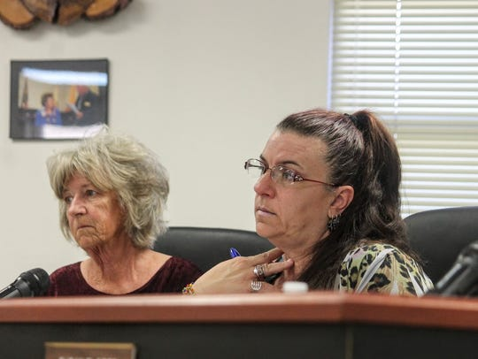 Commission Chairman Lori Bies, right, and Commissioner