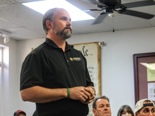 Americans for Prosperity State Director Burly Cain supports right-to-work legislation and spoke out about the topic at Feb. 8's regular Otero County Commission meeting.