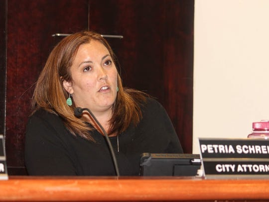 City Attorney Petria Schreiber gave a brief history