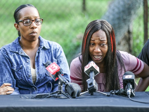 Relatives of Aaron Bailey who was shot by IMPD officers,