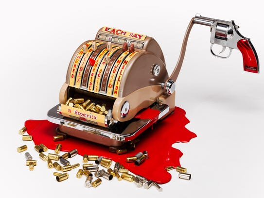 Checking the Cost of Gun Violence by Harriete Estel