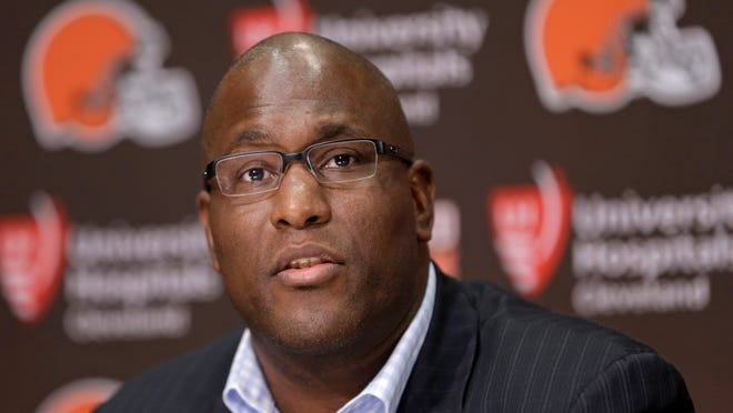Former Cleveland Browns general manager Ray Farmer is interviewing for the Jaguars' GM job.
