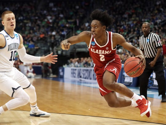 Former Alabama guard Collin Sexton has been linked to the Charlotte Hornets at No. 11.