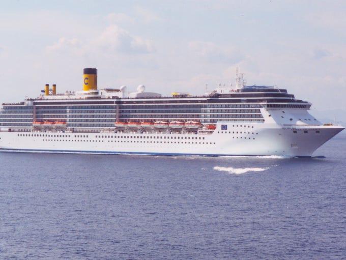 Costa Cruises 86,000 gross ton, 2210-guest MV Costa