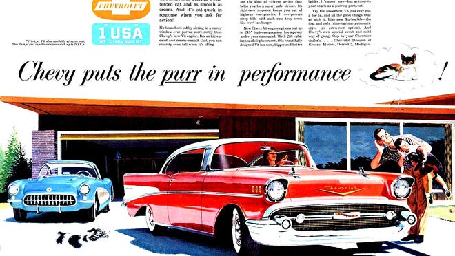 It was clear by 1957 that Chevrolet was marketing its new cars with performance in mind. The '57 Chevy engines included two performance versions, a 283-inch V8 with two four-barrels that developed 270 horses and a fuel injected 283 that delivered the coveted one horsepower per cubic-inch at 283 horsepower.