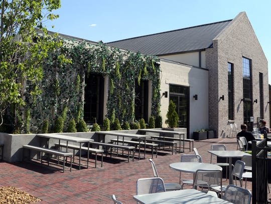 Butchertown Hall's outdoor seating area.