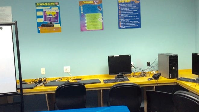 This June 21, 2016 photo shows a computer lab at the Garland Hayward Youth Center and Park in Princess Anne. Schoolchildren attending the center's summer camp can use the lab to enhance computer skills.