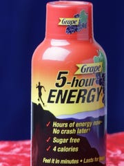 Detail of 5-Hour Energy shot.